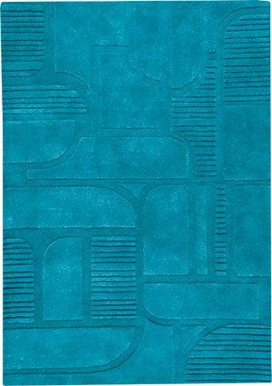 Modern Masters   Pangea Textured Rugs I   Orlando Petrol Rug