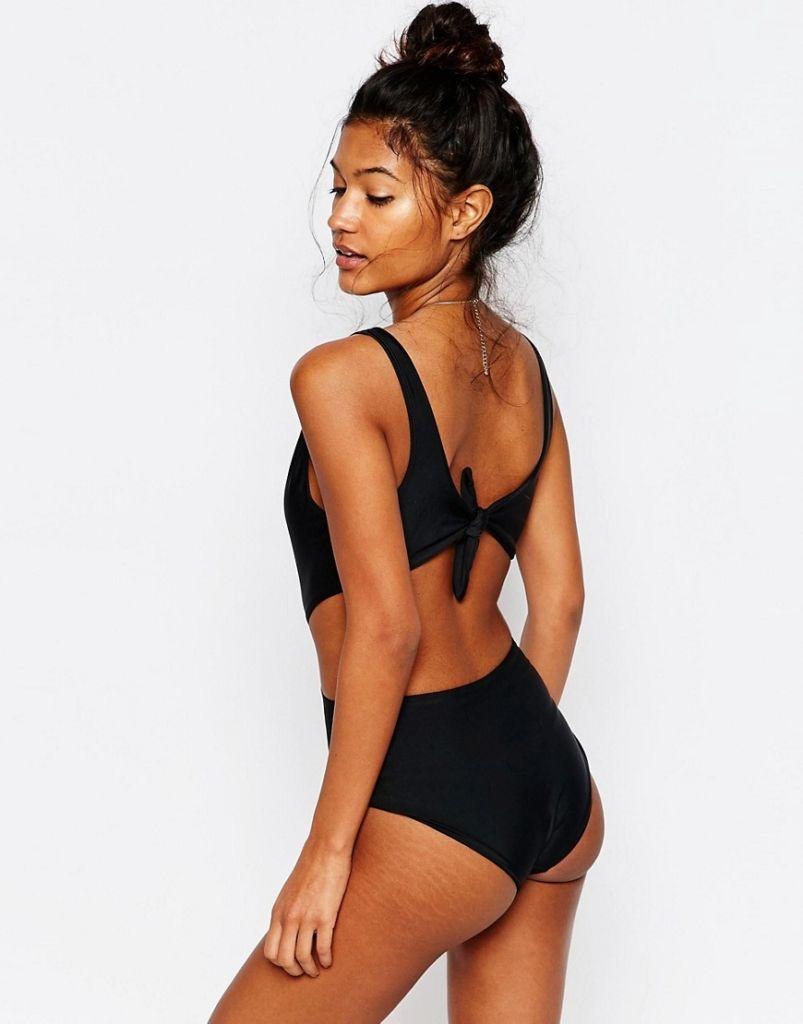 Damen South Beach - Badeanzug mit tiefem Rückenausschnitt - Schwarz ...