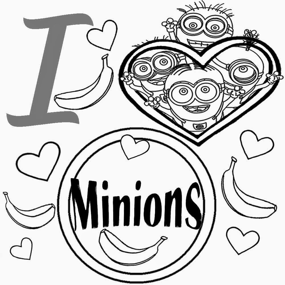 Cute heart simple playgroup activities free kids coloring pages I love minion pictures to colour in