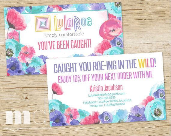 My Sizes Card, My Size Checklist Business Card, Blue Poppy Floral ...