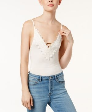 32f1a45bcf6 Free People Gia Lace-Trim Bodysuit - Ivory/Cream XS | Products ...
