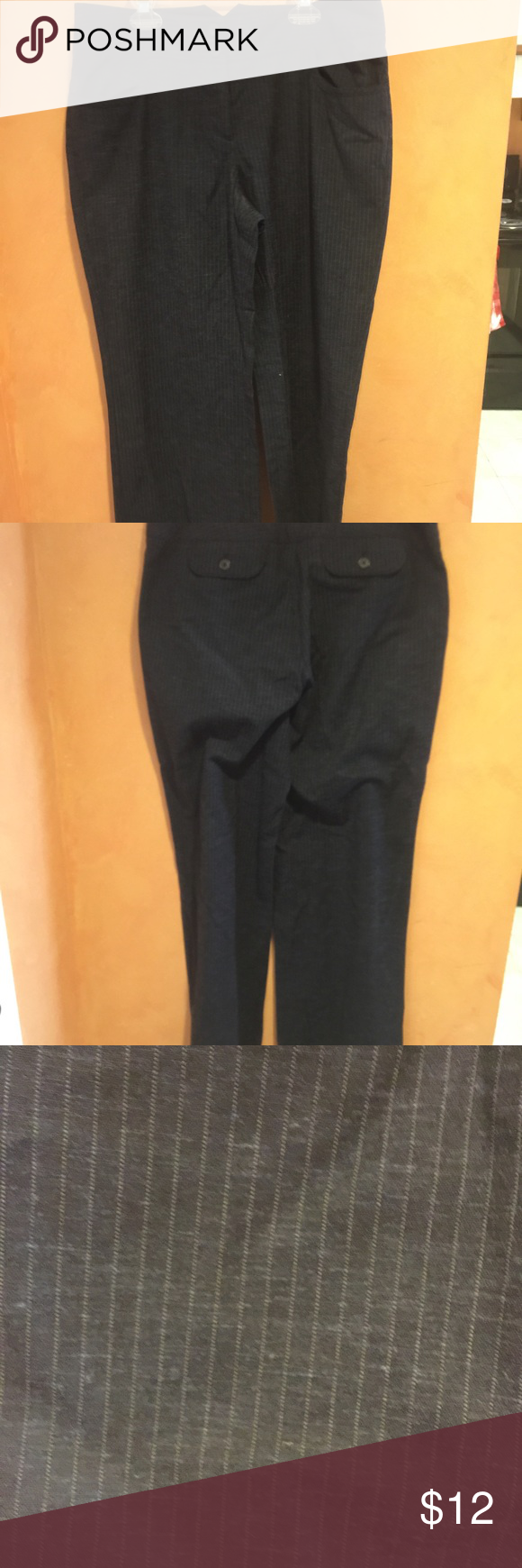 J Jill navy pin stripe pants J Jill navy pin stripe pants. Loose leg and stretch. Excellent condition J Jill Pants Trousers