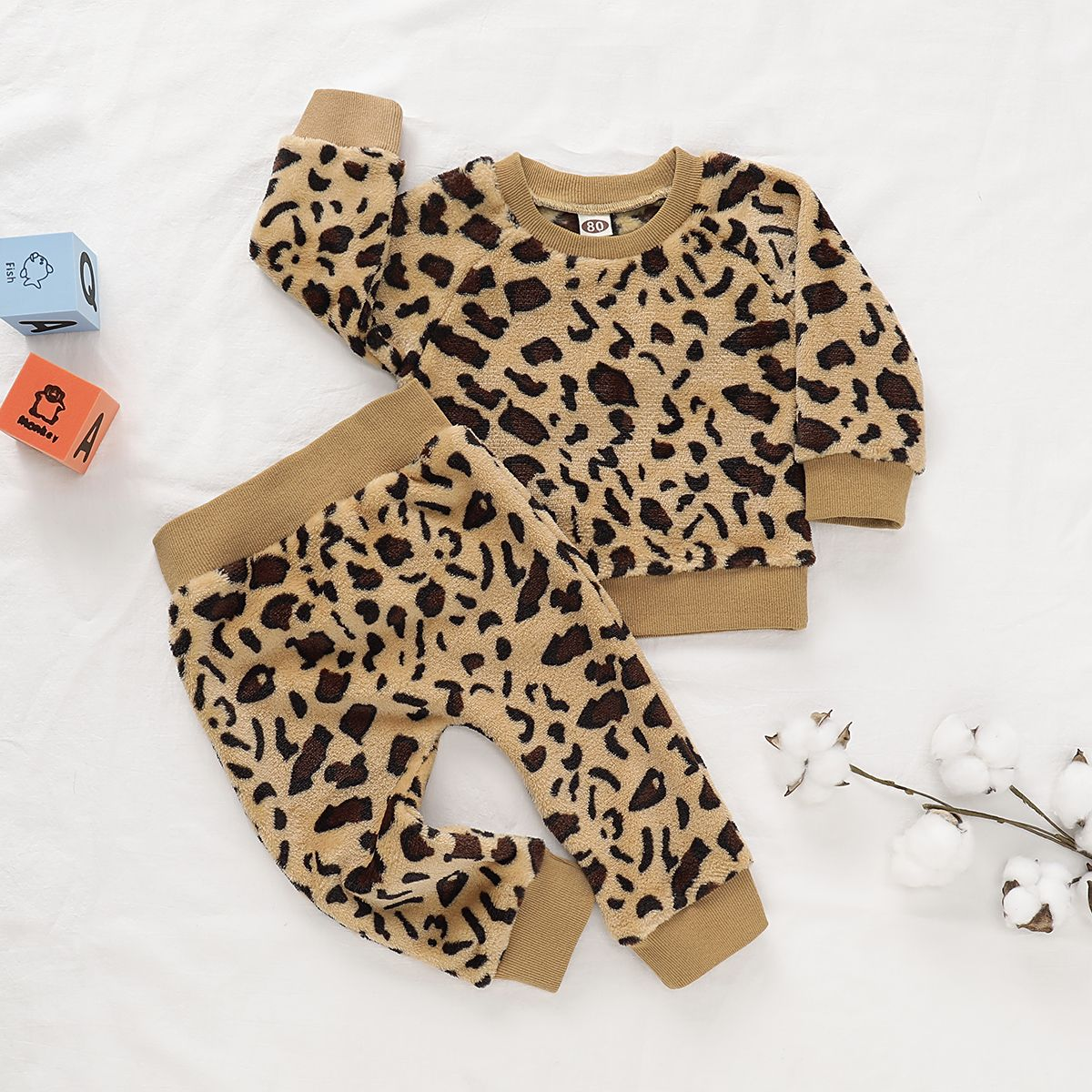 Baby Stylish Leopard Print Top and Pants Set  Baby girl outfits