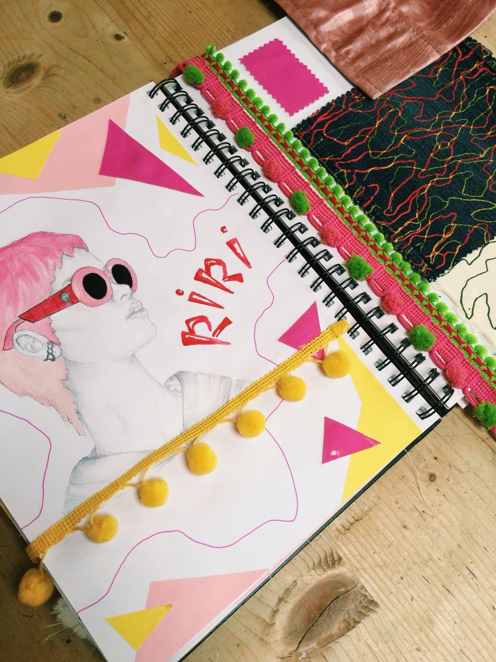 Werk ✏️ #sketchbook #progression #rihanna #fashion #artwork