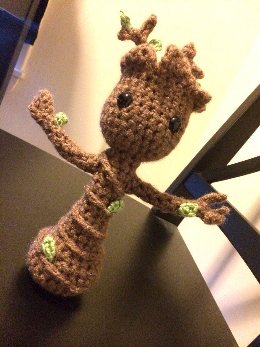 Amigurumi Patterns Groot : Crocheted amigurumi dancing baby groot by ohhaisunshiin