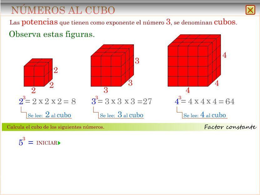 edf79b84e LAS POTENCIAS NÚMEROS AL CUADRADO NÚMEROS AL CUBO JUEGO  CUADRADOS Y CUBOS  POTENCIA PRODUCTO DE FACTORES IGUALES Con este recurso debéis ser capaces  de ...