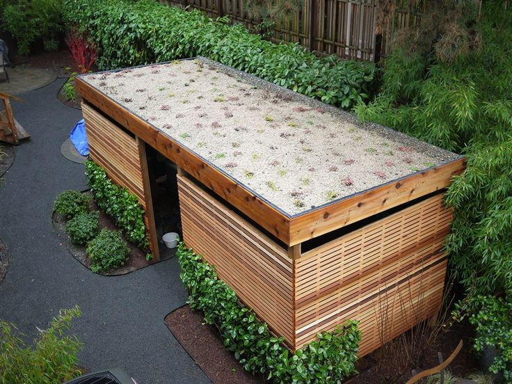 Portland landscaping project includes bike shed with eco-roof ...