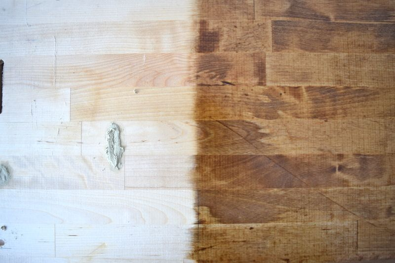 Adventures In Staining Butcher Block What Worked And