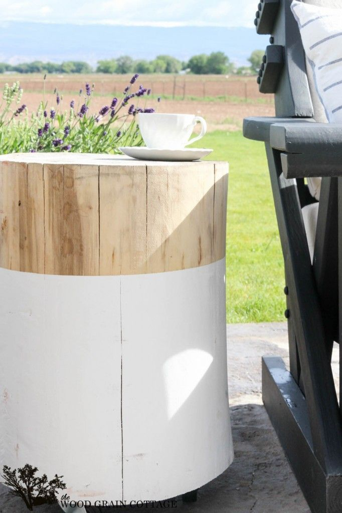 Stump Side Table How To And Diy Outdoor Side Table