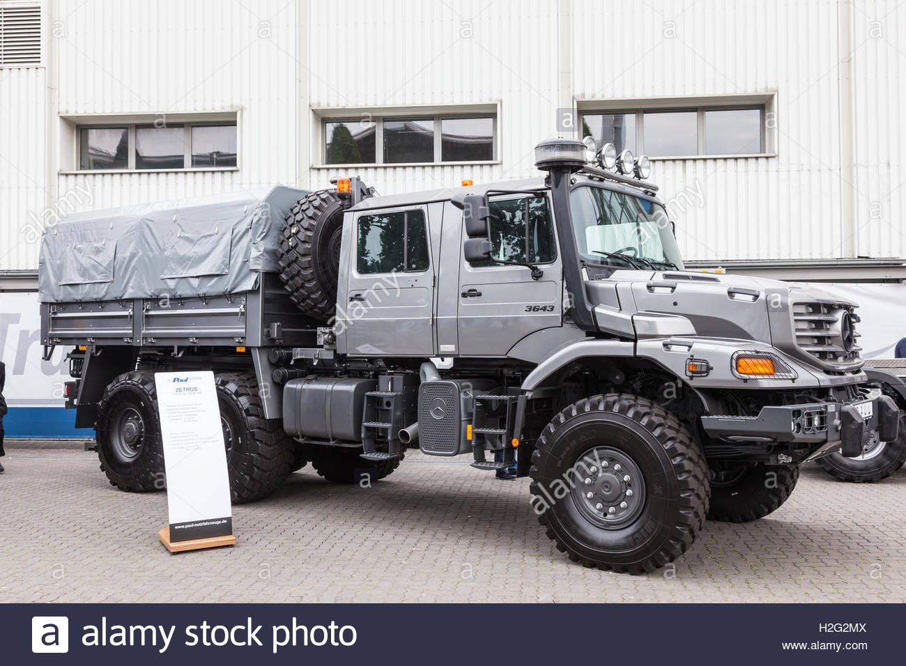 Mercedes Benz Zetros 6x6 Crew Cab Truck Stock Photo Royalty Free