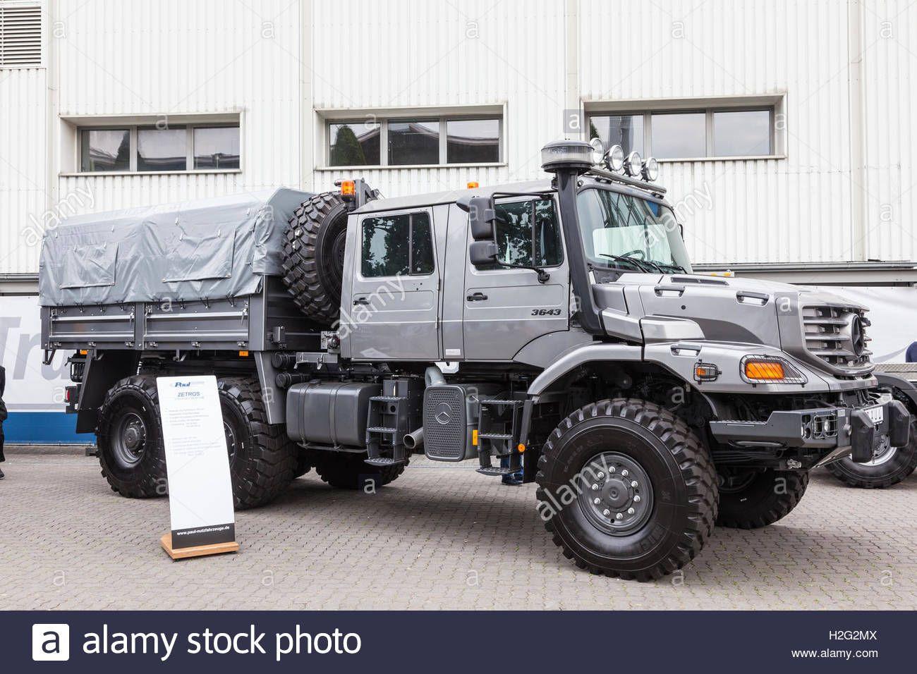Mercedes benz zetros 6x6 crew cab truck stock photo royalty free image 122055274