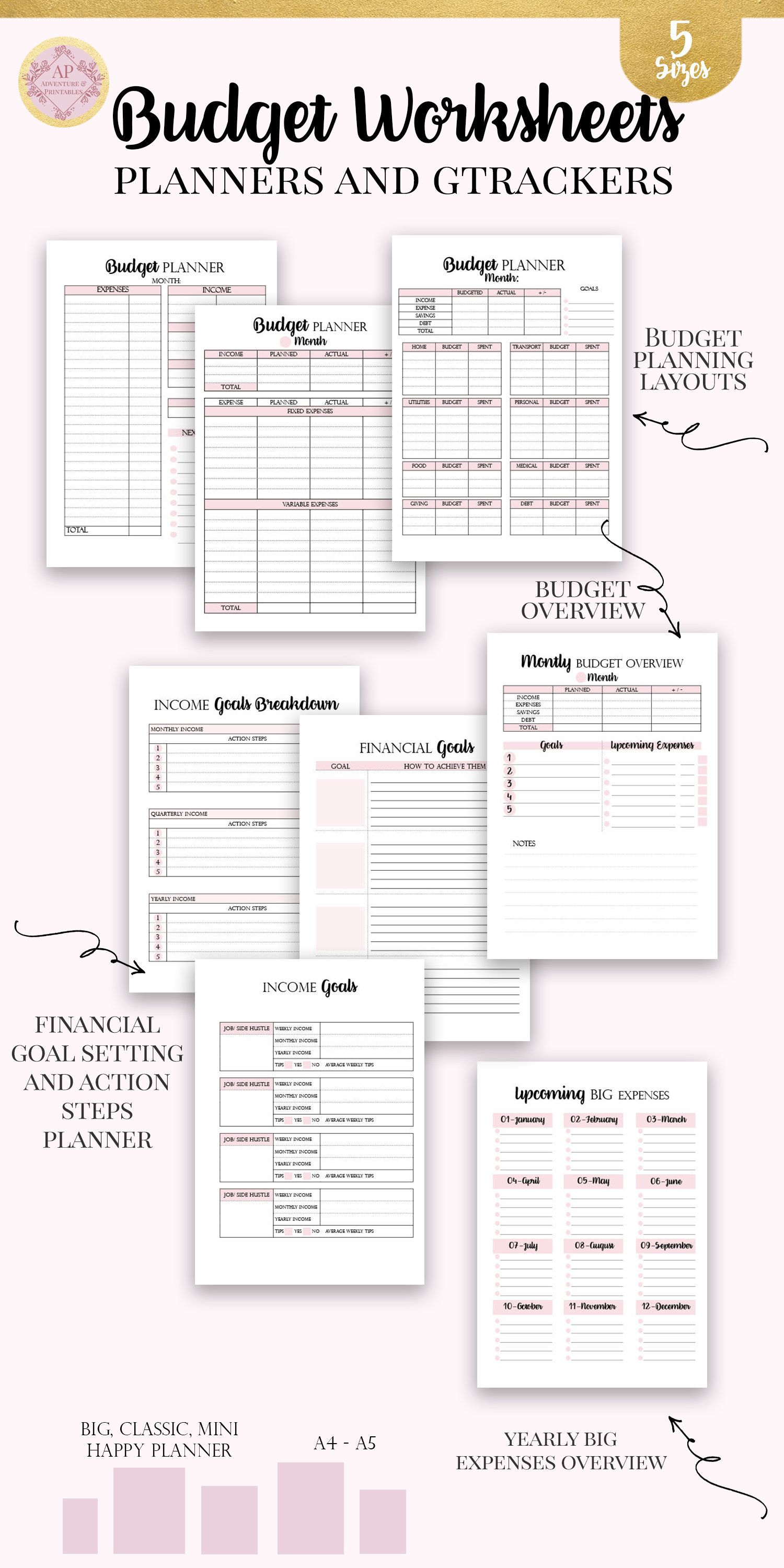 Personal Finance Happy Planner Printable Insert Finance