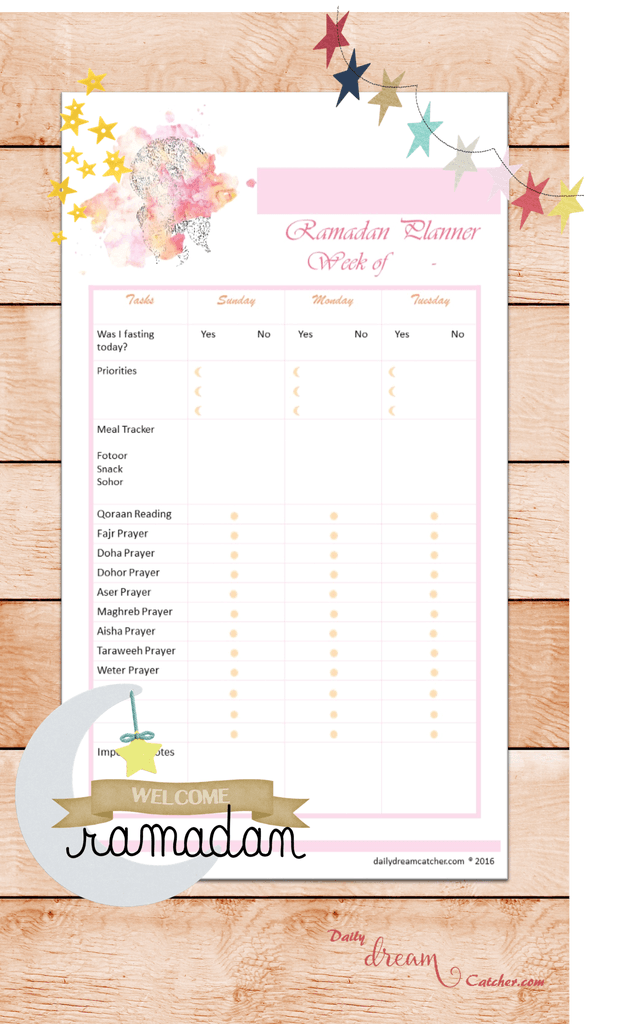 Free Ramadan 2016 Planner Printable Get Ready To The Most Spiritual