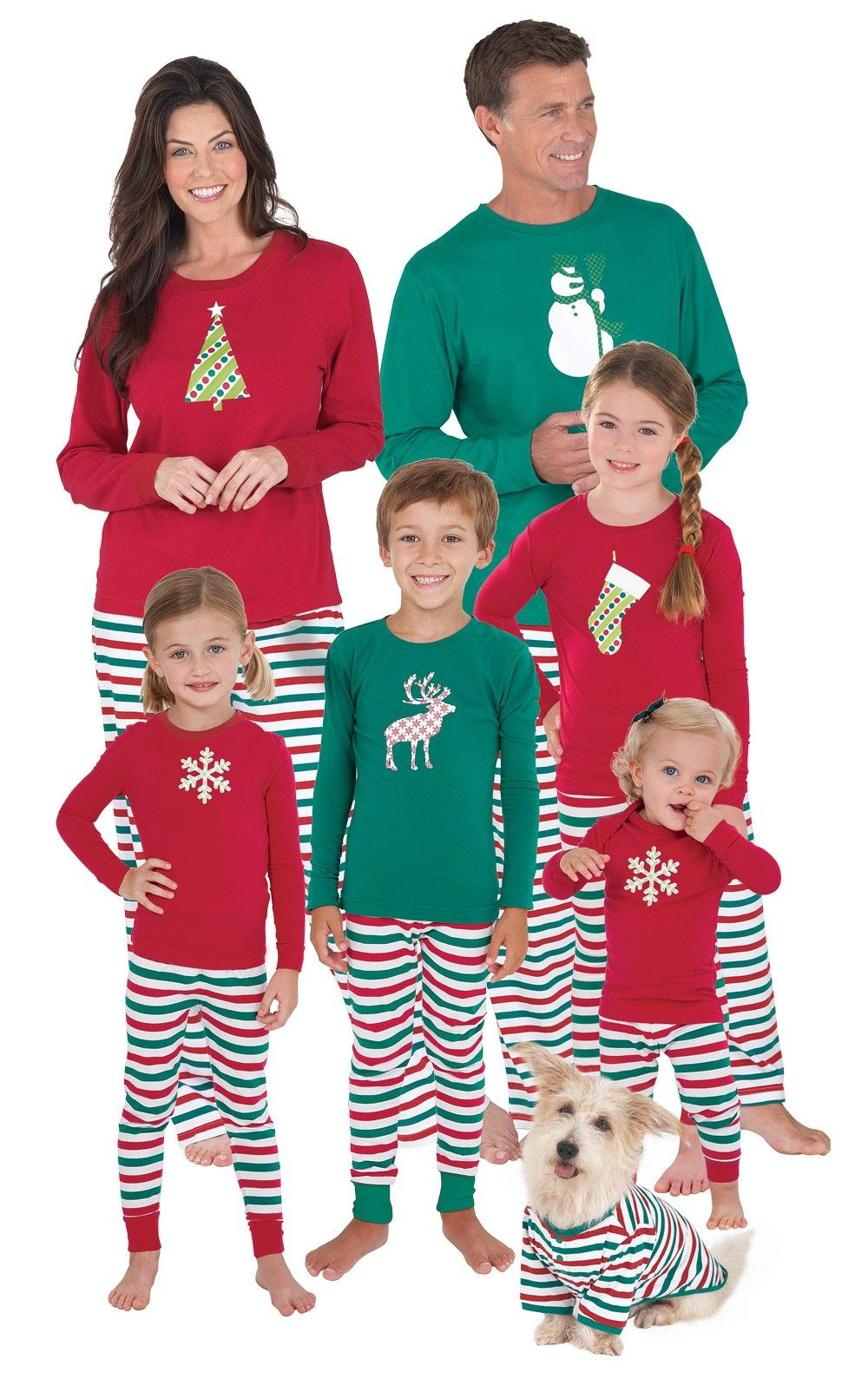 Holiday Stripe Matching Family Pajamas Matching family
