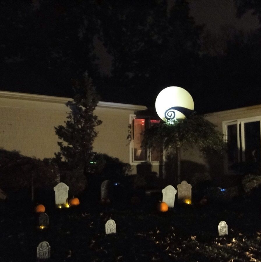 outside christmas decorations nightmare before christmas moon