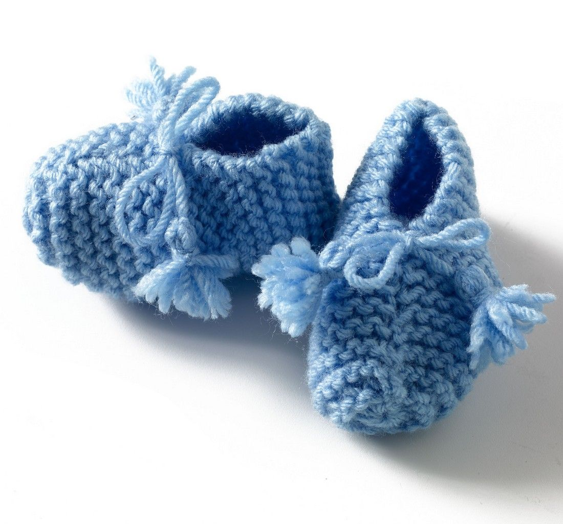 Free+Knitting+Patterns+Baby+Booties | Easy Baby Booties Free ...