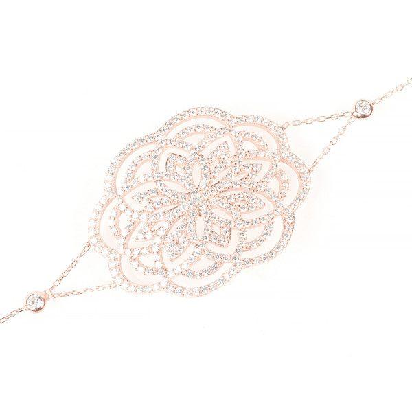 Latelita London Lotus Bracelet Rose Gold d5aPQn