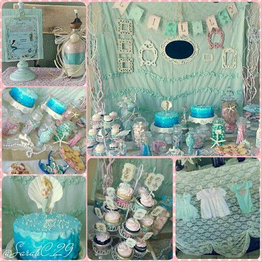 My vintage Mermaid baby shower ! ♡
