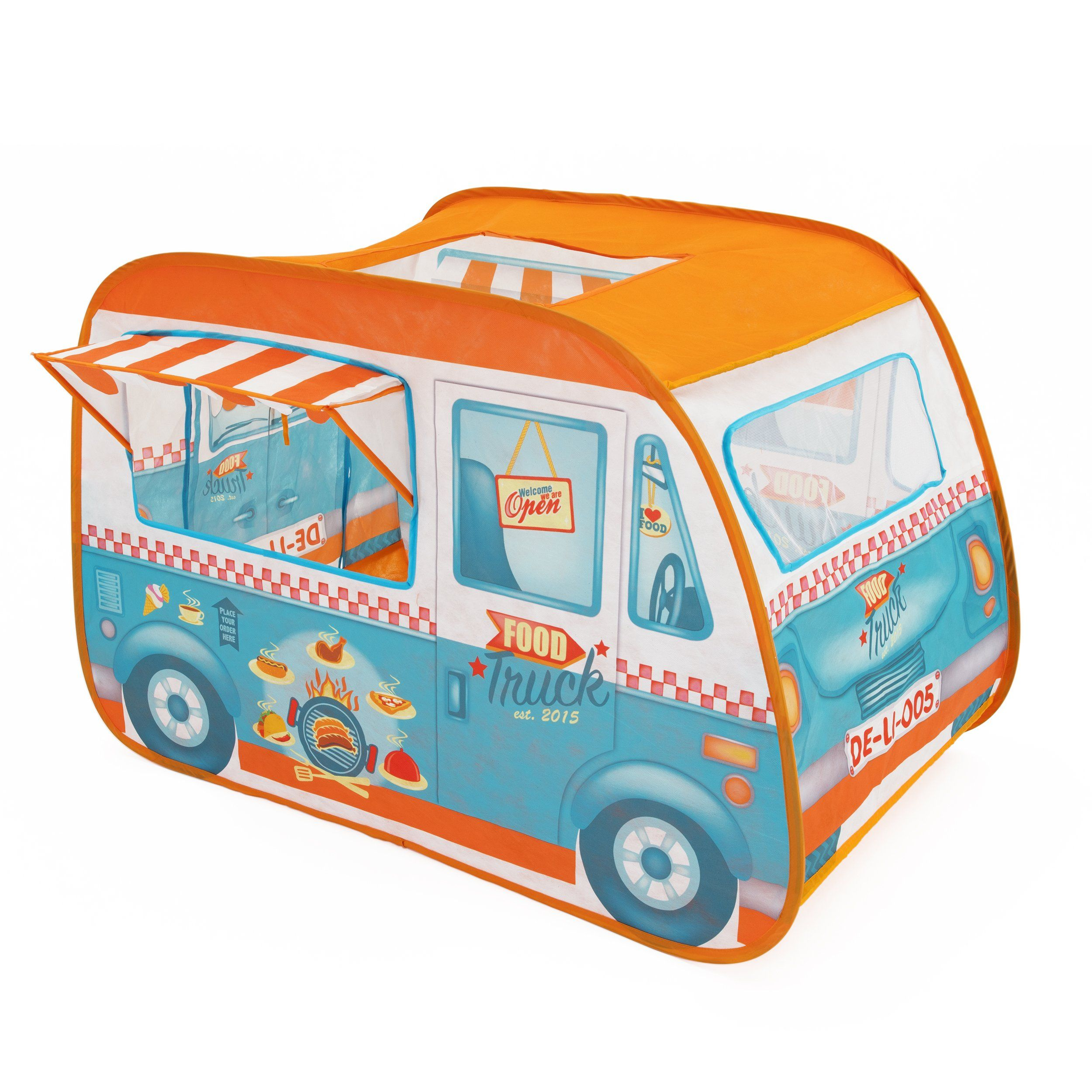 Fun2give Food Truck Play Tent With Canopy Roof Opening And Front Window Easy To Set Up Easy To Fold Away Cool Food Truck Play Tent Kids Canopy Canopy Tent