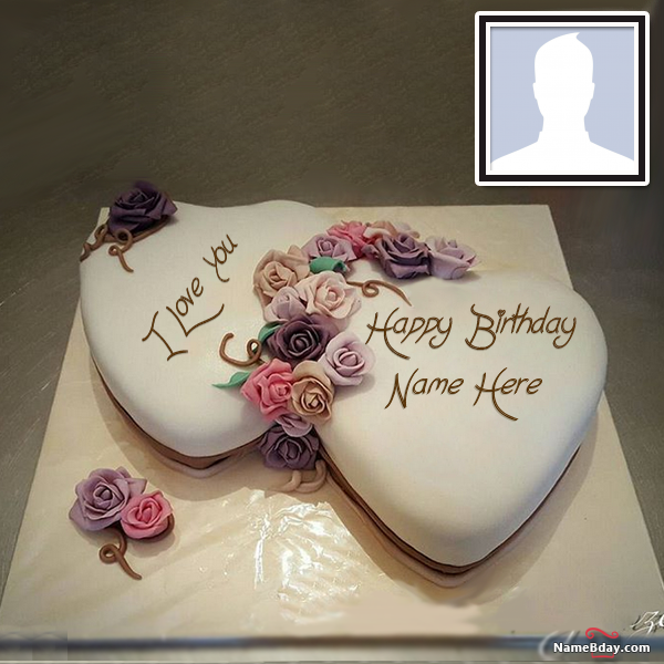 Make Happy Birthday Images For Wife With Name And Photo Happy Birthday Cake Images Birthday Wishes Cake Happy Birthday Cake Photo