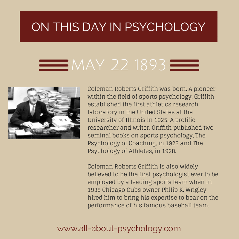 22nd May 1893. Coleman Roberts Griffith was born. A