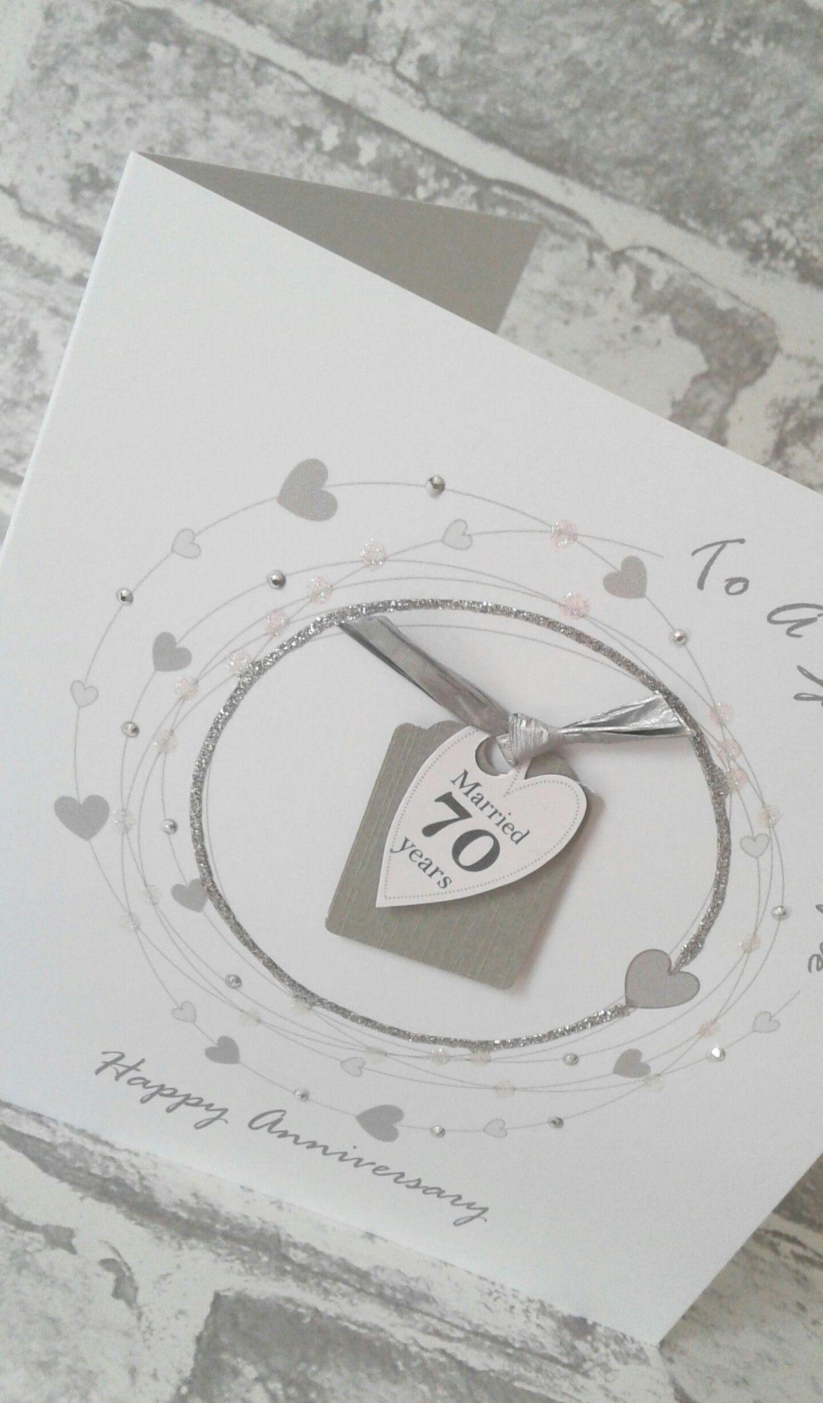 NEW*** 70th Wedding Anniversary Card Platinum