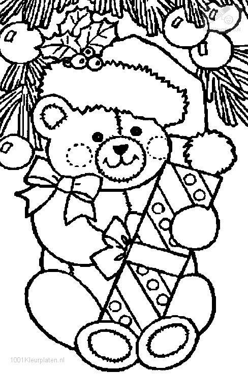 Christmas Bear Coloring Page ZIAtangle Holiday