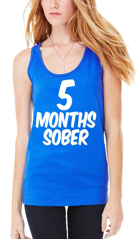 373af24e046579 5 Months Sober Tank Top Baby Shower Gift Gifts Ideas by RodDesigns ...