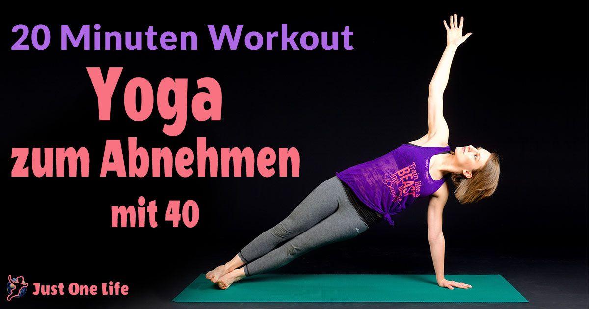yoga zum abnehmen 20 minuten workout sport bungen. Black Bedroom Furniture Sets. Home Design Ideas