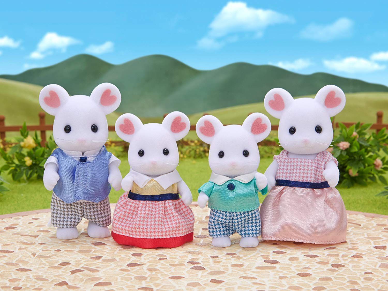 Sylvanian Families Marshmellow Mouse Family Sylvanian