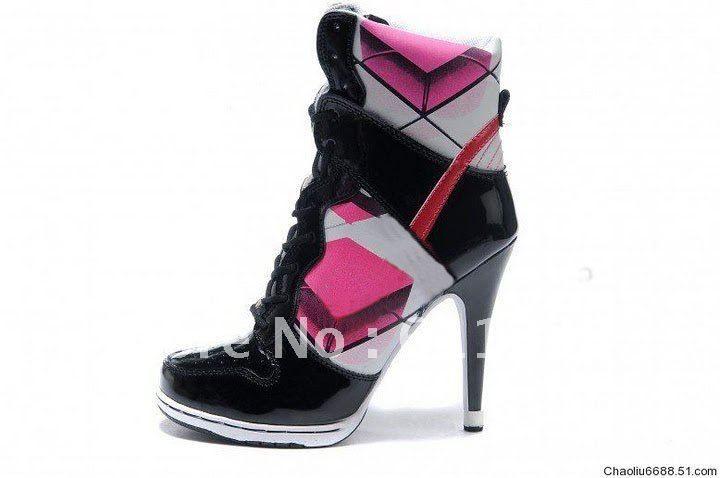 45fe5850b09 cartoon high heel High Tops | Style-High-Top-Women-s-black-pink ...