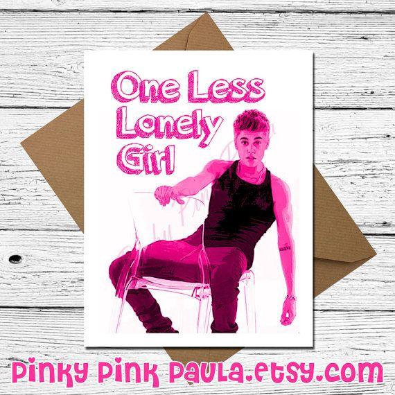 Justin Bieber Card Funny Birthday Card Belieber Cute Birthday Card Happy Card For Girlf Cute Birthday Cards Funniest Valentines Cards Funny Birthday Cards