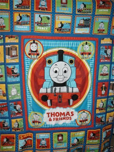 Thomas the Tank Engine : This is a single size quilt, but I have ... : thomas quilt - Adamdwight.com