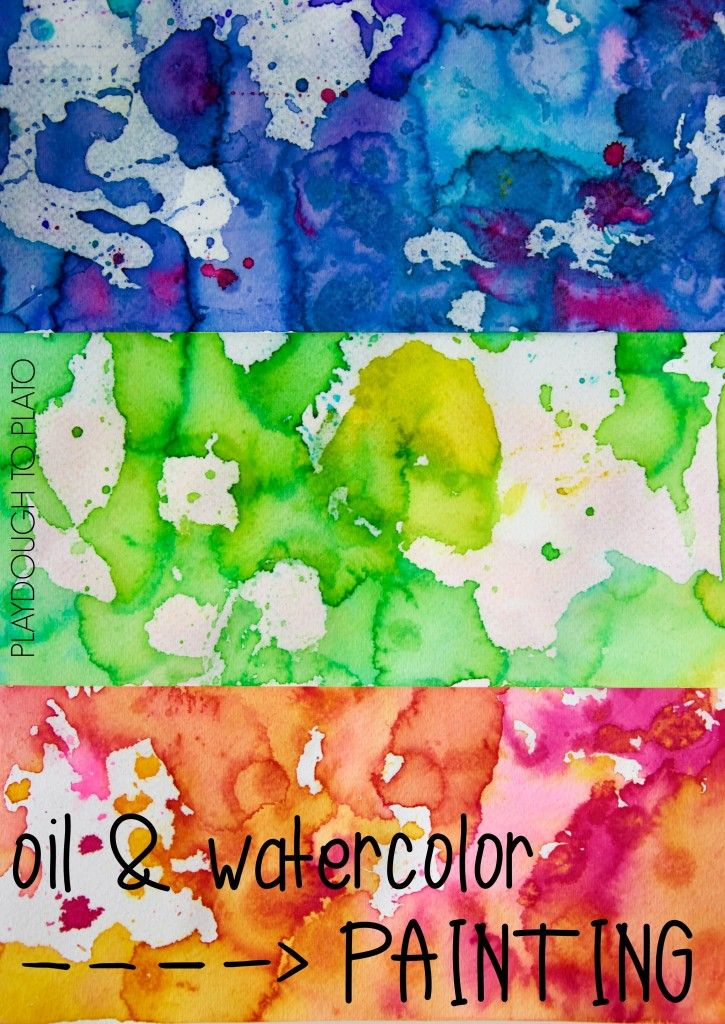 Kids Science Oil And Watercolor Painting Science For Kids