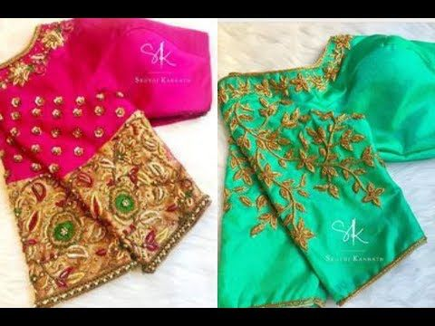 7651fdbbe5154 Most trending blouse designs for silk sarees pattu saree youtube also rh in  pinterest