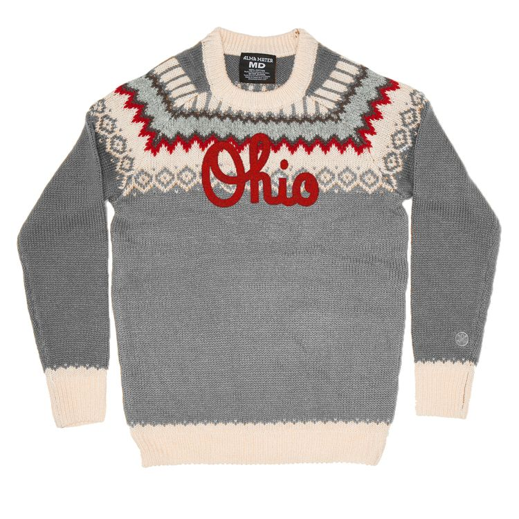 Ohio State Ugly Christmas Sweater.Fair Isle Your Non Ugly Christmas Sweater The Ohio