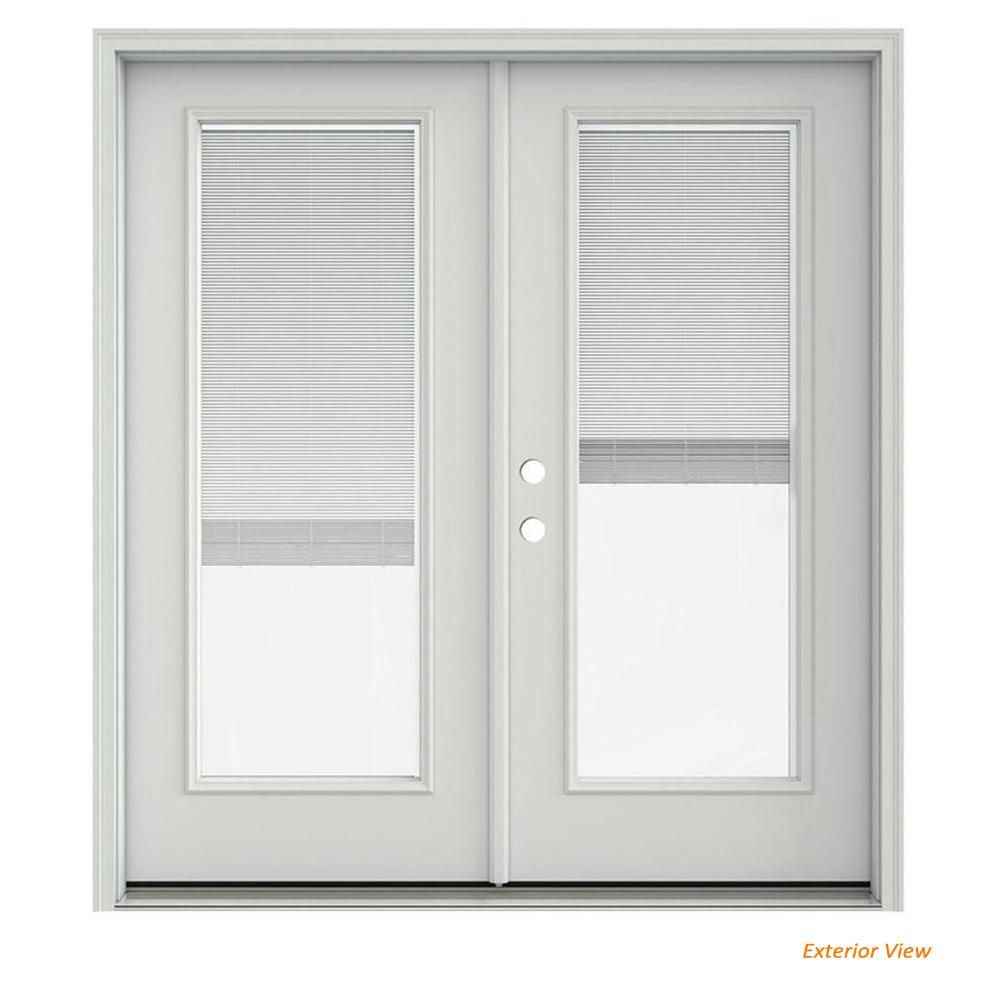Jeld Wen 72 In X 80 In Primed Steel Right Hand Inswing Full Lite