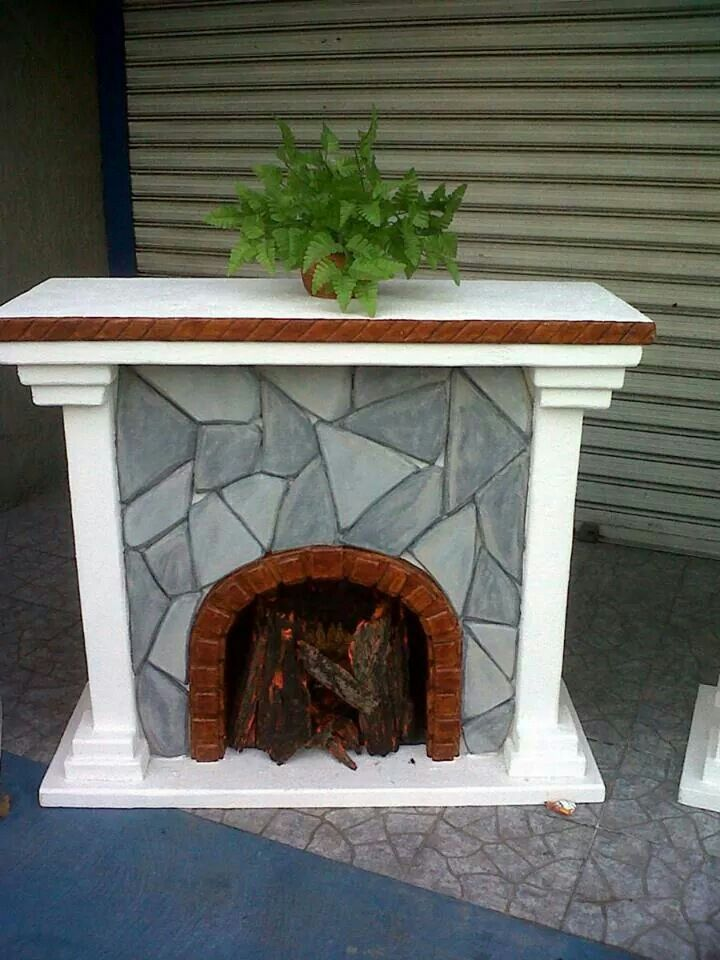 Chimenea 1 chimeneas para navidad pinterest - Chimeneas artificiales ...