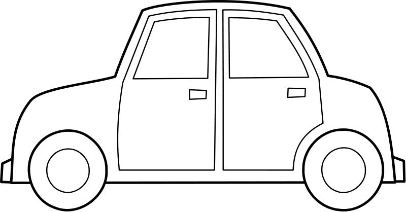 auto malvorlage von der seite  ausmalbilder für kinder