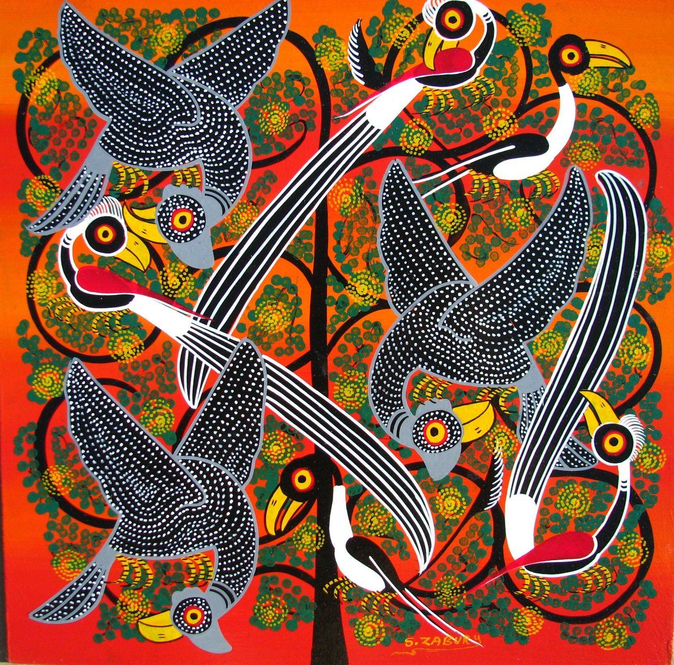 Tingatinga Paintings Of Tanzania In