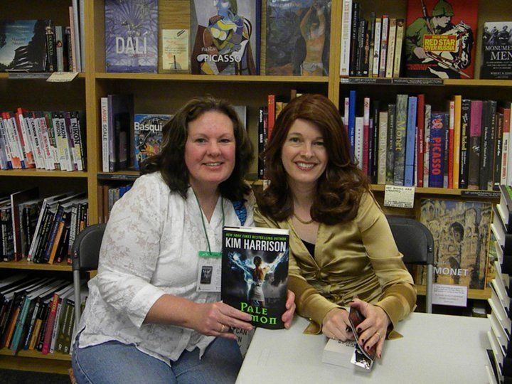 Me and Kim Harrison with Pale Demon. Great book and author.