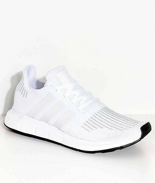 new product 65899 cf848 adidas Swift Run White and Crystal Shoes