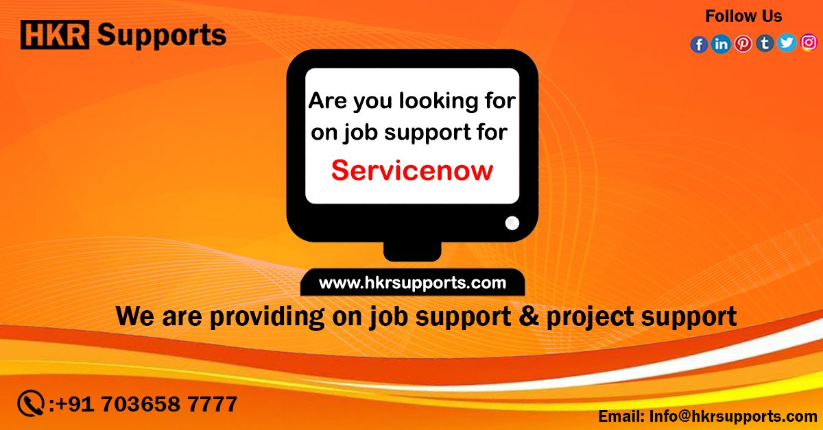 Get ServiceNow Support, Job Support, or Hire remote