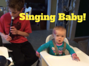 Duet with her Brother - Singing Baby  http://momgenerations.com