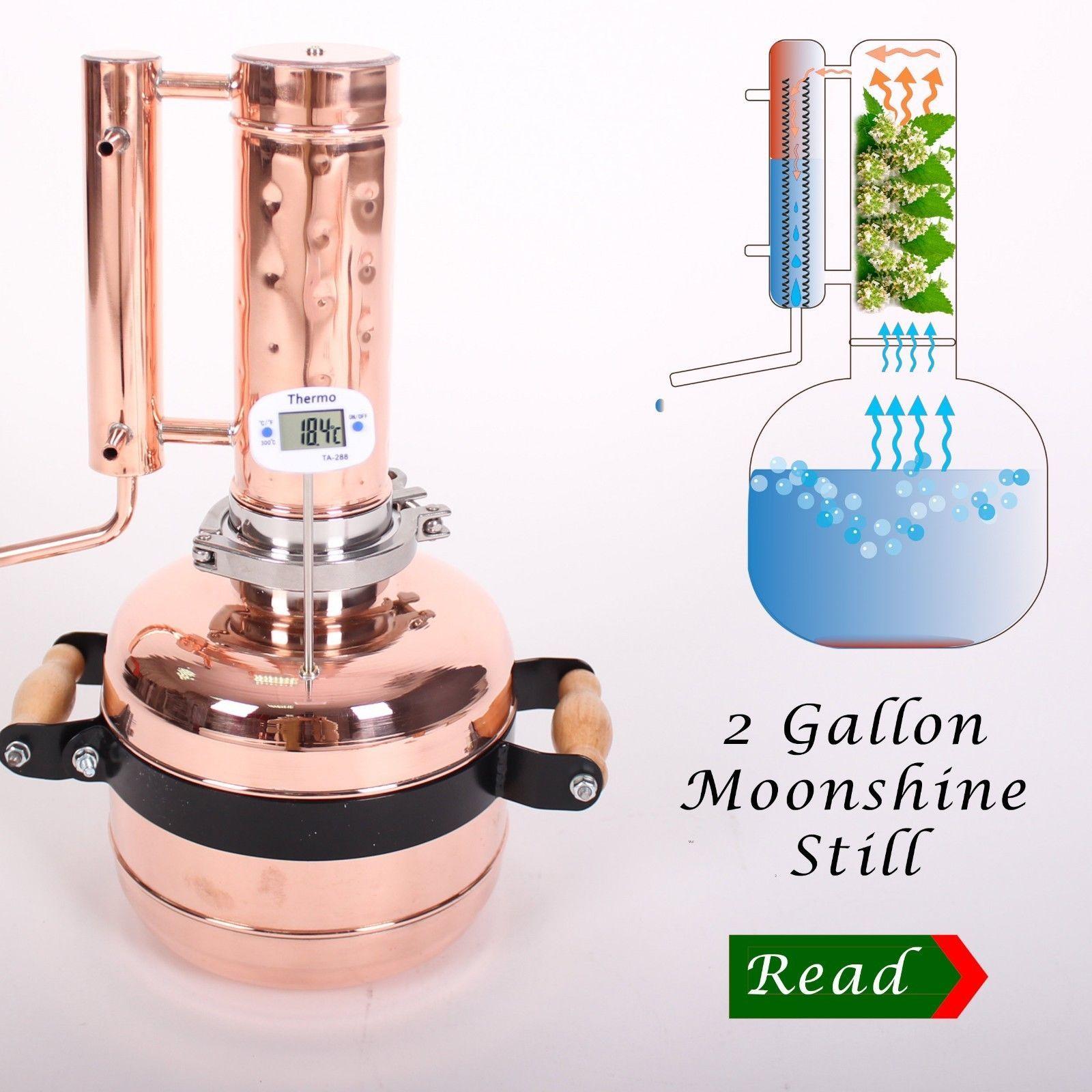 Copper Distiller 8 Liters Pot Still In 2020 Moonshine Still