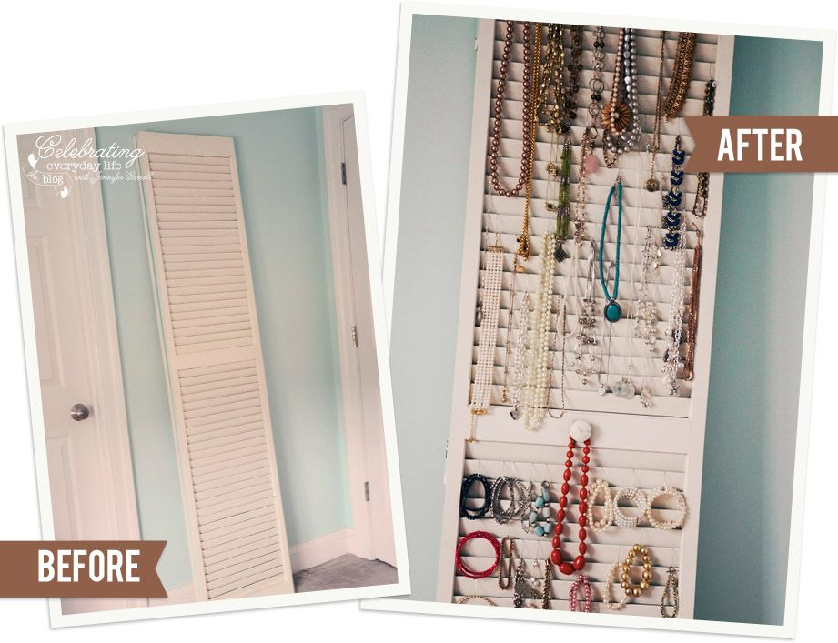 Shutter Jewelry Organizer old shutter ornament hooks simple