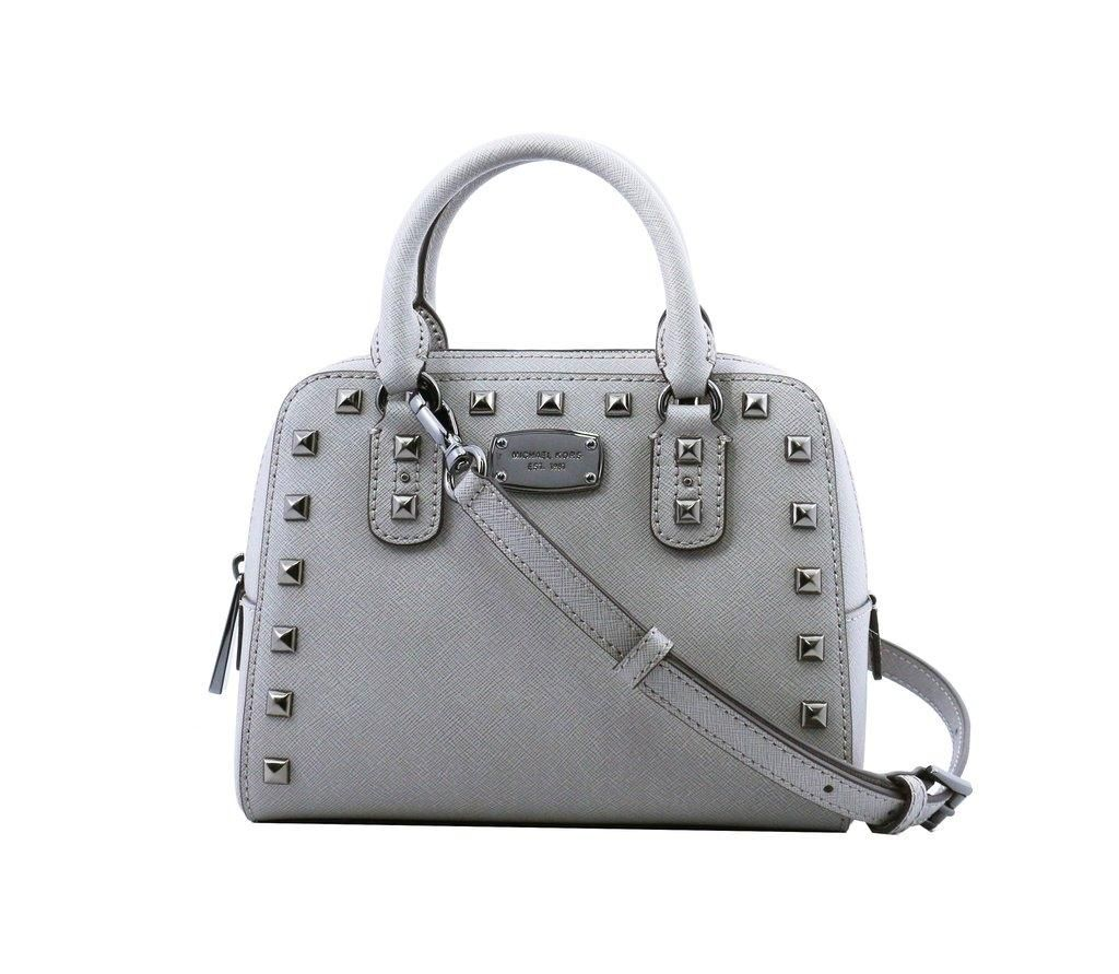 88b82cea9472 Michael Kors Saffiano Stud Mini Limited Edition Pearl Grey Satchel. Save  20% on the Michael Kors Saffiano Stud Mini Limited Edition Pearl Grey  Satchel!