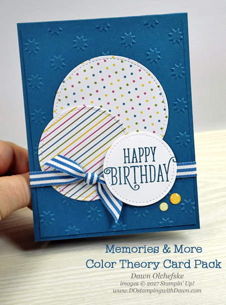 Memories More Week Color Theory Masculine Birthday Cards Kids Birthday Cards Cards Handmade