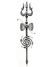 image result for shiva trishul tattoo designs shiva pinterest trishul. Black Bedroom Furniture Sets. Home Design Ideas