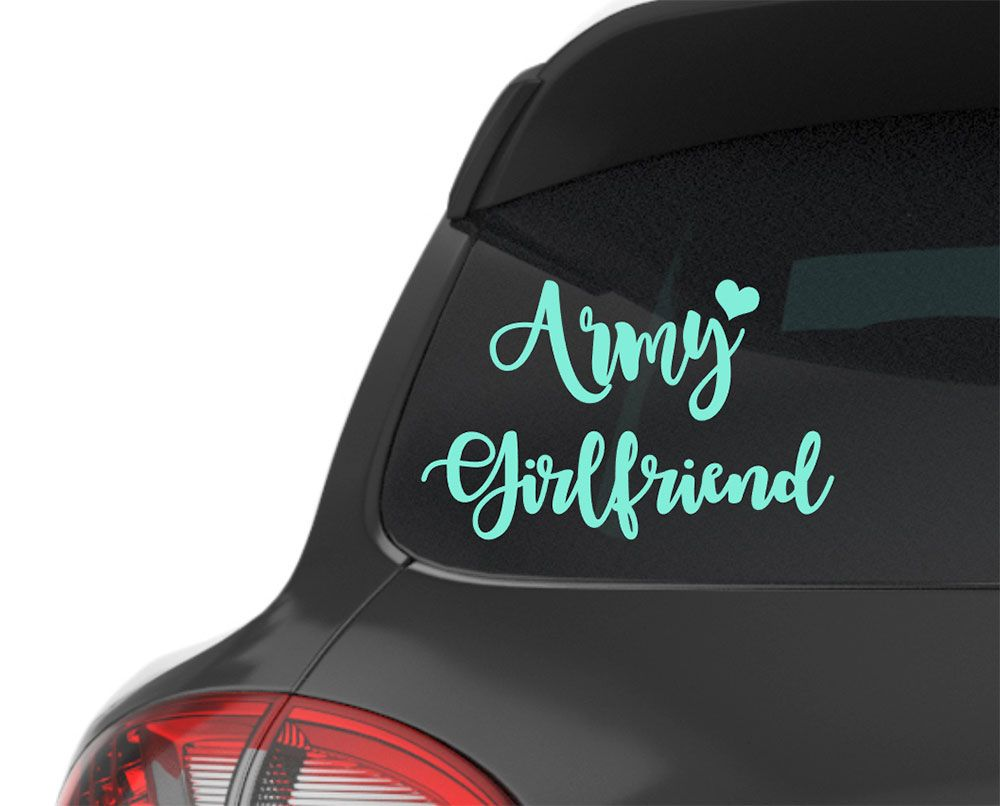 Army Girlfriend With Heart Decals For Cars Car Stickers Monograms Vinyl Decals For Cups Laptop Sticke Army Girlfriend Pattern Decal Lilly Pulitzer Patterns [ 806 x 1000 Pixel ]